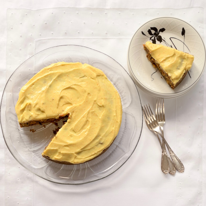 Recipe - Carrot Cake with Orange Cream Cheese Frosting - Food Wine ...
