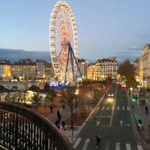 Le Royal àLyon, Ferris wheel on Place Bellecour - French Hotels - Food-Wine-Travel with Roberta Muir