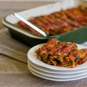 Spinach & Ricotta Cannelloni - Food-Wine-Travel with Roberta Muir