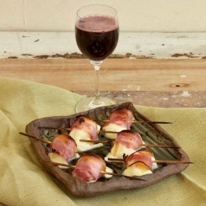 Pancetta-wrapped Grilled Mozarella